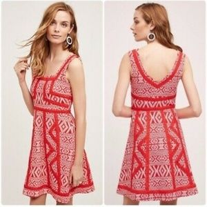 Anthropologie maeve emma red dress NWT 12